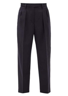 A.P.C. Cheryl pleated wool-herringbone trousers