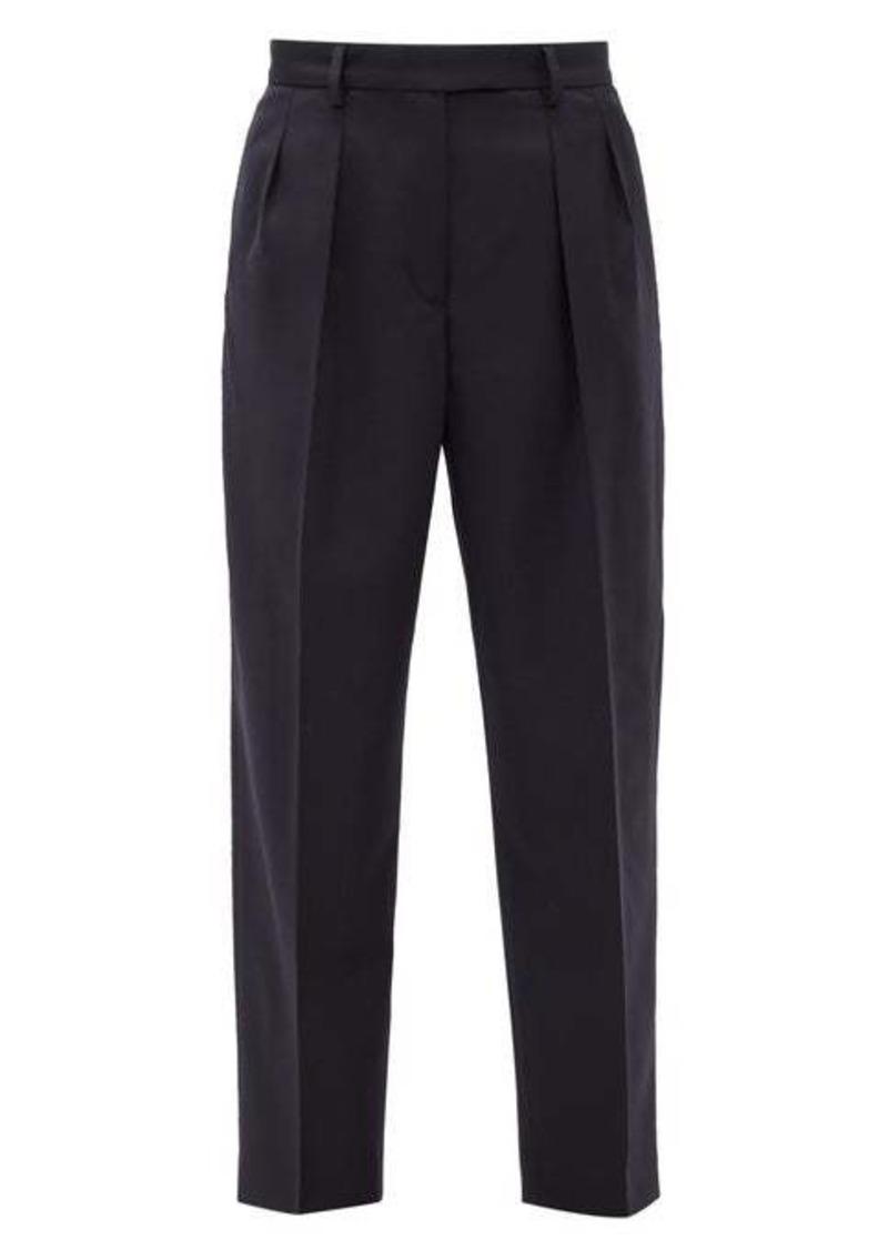 A.P.C. Cheryl pleated wool-herringbone trousers
