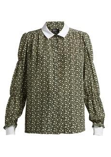 A.P.C. Clark printed silk crepe de Chine blouse