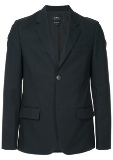 A.P.C. classic fitted blazer - Blue