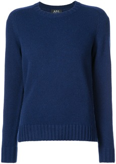 A.P.C. classic fitted sweater - Blue