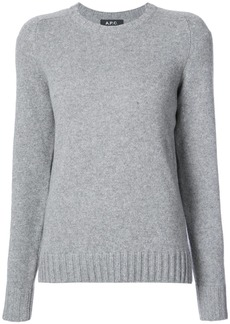 A.P.C. classic fitted sweater - Grey