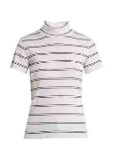 A.P.C. Clea striped cotton-blend top