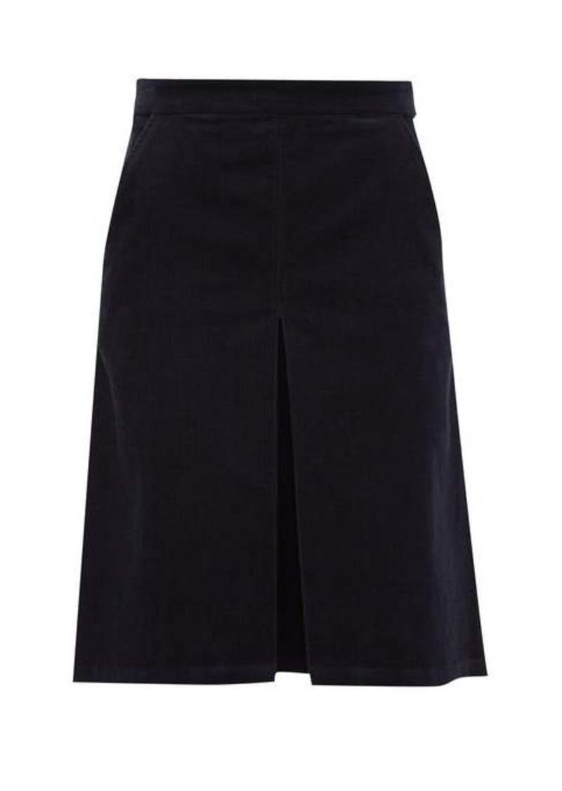 A.P.C. Coco cotton-blend corduroy skirt