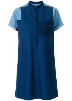 A.P.C. contrast denim sleeve dress - Blue