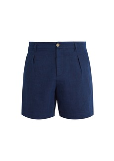 A.P.C. Cotton and linen-blend chino shorts