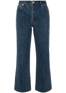 A.P.C. cropped flared jeans - Blue