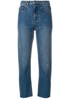 A.P.C. cropped slim fit jeans - Blue