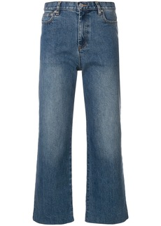 A.P.C. cropped straight-leg jeans - Blue