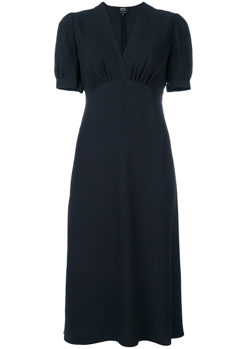 A.P.C. cross front dress - Blue