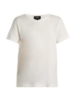 A.P.C. Daniela cotton-blend T-shirt