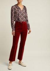 A.P.C. Debbie retro floral-print blouse