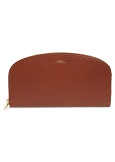 A.P.C. Demi Lune Leather Wallet