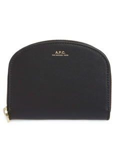 A.P.C. Demi Lune Leather Wallet