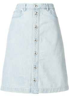 A.P.C. denim button skirt - Blue
