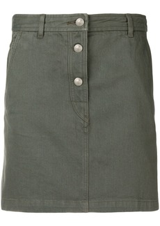 A.P.C. denim mini-skirt - Green