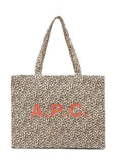 A.P.C. Diane leopard-print canvas tote bag