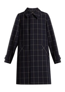 A.P.C. Dinard checked cotton-blend twill coat