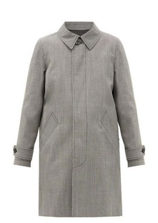 A.P.C. Dinard houndstooth-checked twill coat