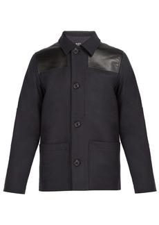 A.P.C. Donkey wool-blend field jacket