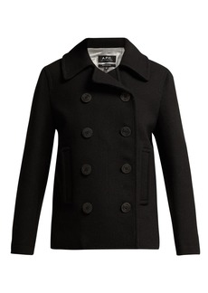 A.P.C. Double-breasted wool-blend peacoat