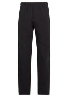 A.P.C. Elasticated-waist cotton-blend trousers
