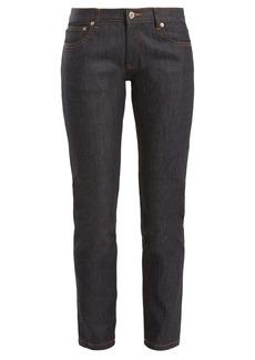 A.P.C. Etroit mid-rise slim-leg cropped jeans