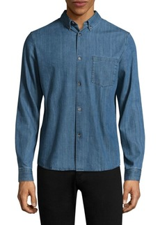 A.P.C. Faded Cotton Button-Down Shirt