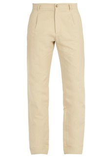 A.P.C. Florian cotton and linen-blend chino trousers