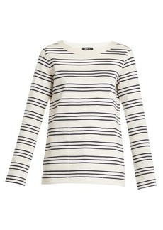 A.P.C. Fog striped crew-neck cotton top