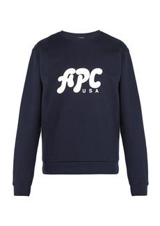 A.P.C. Gabe logo-print cotton sweatshirt