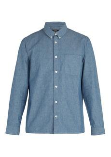 A.P.C. Geoffrey chambray cotton-blend shirt