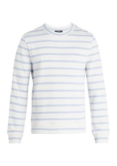 A.P.C. Gianno Tutti-embroidered striped cotton sweatshirt