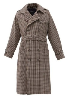 A.P.C. Greta checked wool-blend trench coat