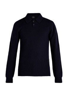 A.P.C. Guitry wool-blend long-sleeved polo shirt
