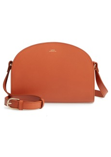 A.P.C. Sac Demi Lune Leather Crossbody Bag
