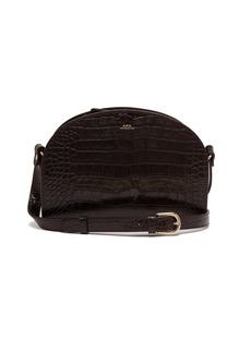 A.P.C. Half-moon crocodile-effect leather cross-body bag