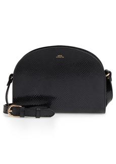 A.P.C. Half Moon Leather Crossbody Bag