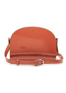 A.P.C. Half-moon patent-leather cross-body bag