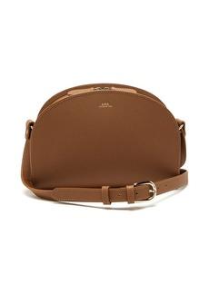 A.P.C. Half-moon Saffiano-leather cross-body bag