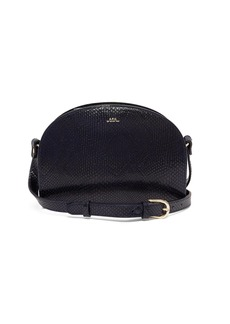 A.P.C. Half -moon snake-effect leather cross-body bag