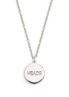 A.P.C. Heads and tails necklace
