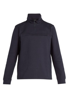 A.P.C. High-neck zip-up cotton sweatshirt