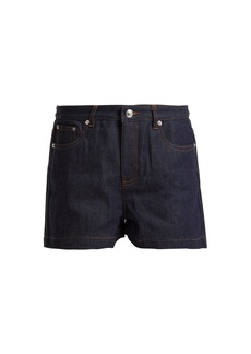 A.P.C. High-rise rigid denim shorts