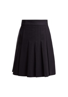 A.P.C. Hortense pleated wool-blend skirt