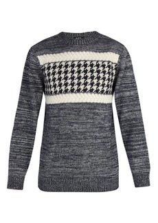 A.P.C. Houndstooth intarsia wool-blend sweater