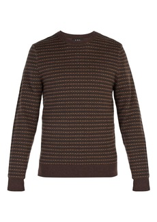 A.P.C. Intarsia-knit wool sweater