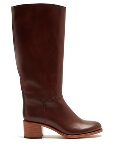 A.P.C. Iris block-heel leather knee-high boots