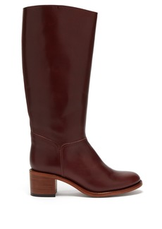 A.P.C. Iris leather knee-high boots