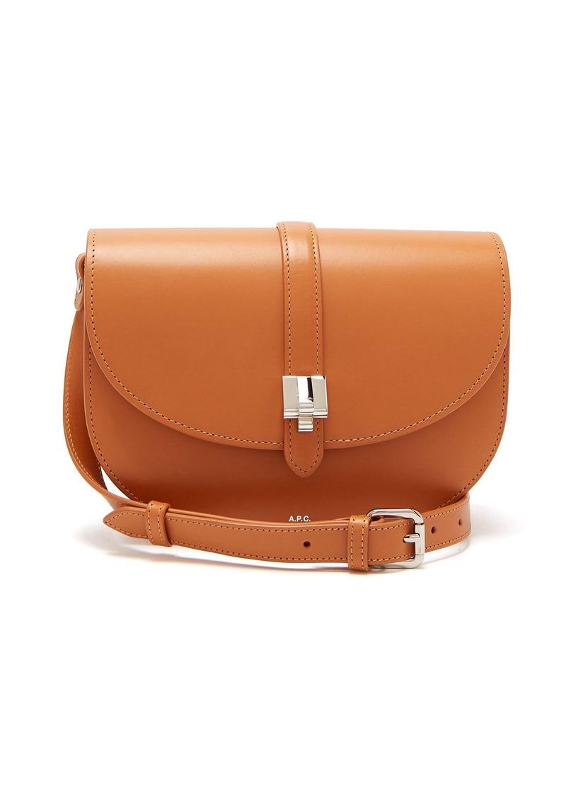11e62b4263 A.P.C. A.P.C. Isilde leather saddle bag
